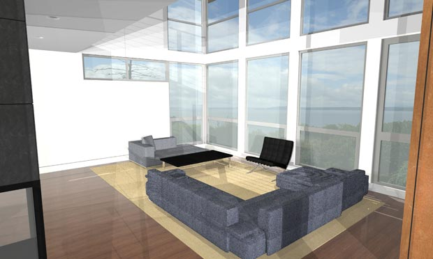First Interior Renderings A House By The Park