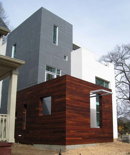 rethinking natural wood siding - Modern Home Exterior Wood